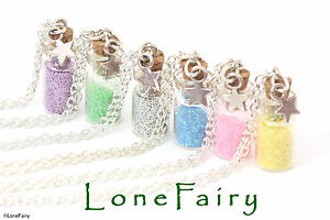 """Gorgeous Fairy Dust Silver Plated Chain Necklace Miniature Bottle 14 16 18 20"""""""