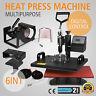 6IN1 HEAT PRESS TRANSFER PRINTING MACHINE DIY PRINTER T-SHIRT SUBLIMATION GREAT