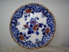 BEAUTIFUL FLOW BLUE 9 3/4'' PLATE - MOYUNE PATTERN - RIDGEWAYS ENGLAND