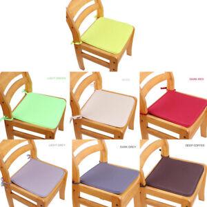 Soft Cushion Office Chair Garden Indoor Dining Seat Pad Tie On Square Foam PBJN