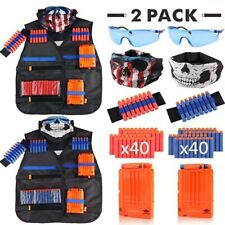 Toy Suit x2 for Nerf Gun Tactical Equipment Shuttle Bullet Magazine Accessories