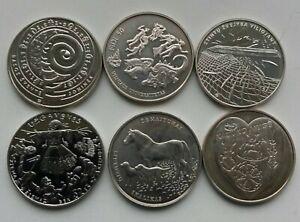 Lithuania 1.5 eur 6 coins UNC