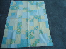 "Homemade Pastel Multi-Colored Patchwork Tied Lap Quilt Measurement: 40"" X 52"""