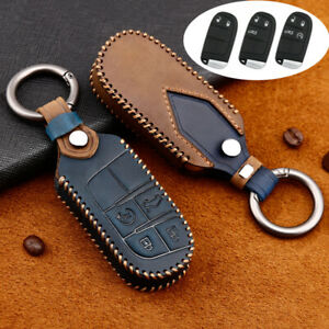 Leather Car Remote Key Cover Fob Case For Jeep Cherokee For Dodge For Chrysler