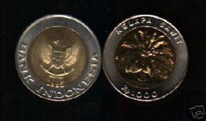 INDONESIA 1000 1,000 RUPIAH KM-56 1995 x 10 Pcs Lot BI METAL COIN PALM UNC MONEY