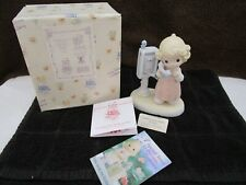 Precious Moments 1998 Lord Please Don't Put Me On Hold Members Only Figurine NIB