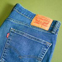 Levi 511 Jeans Slim Fit Zip Fly Blue Vintage Men's (LabelW36L34) W 35 L 32