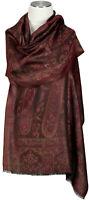 Schal Seidenschal 100% Seide silk stole scarf écharpe foulard Paisley Rot