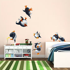 R00261 Wall Stickers Sticker Adesivi Murali Decorativi Pinguini 02 30x120cm