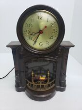 New ListingVintage Mastercrafters No #272 Fireplace Motion Clock Working 1950s