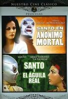Santo en Anonimo Mortal & Santo y El Aguila Real [New DVD] Full Frame, Dolby
