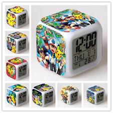 Pokémon Pikachu Wecker LED Nachtlicht Digital Alarm Clock Best Geschenk DE