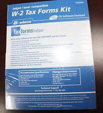 2014 40 EMPLOYEE ADAMS W-2  W2 KIT 6-PART IRS TAX FORMS LASER INKJET + ENVELOPES