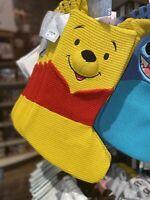 Disney Parks Winnie The Pooh Knit Christmas Holiday Winnie The Pooh Stocking NEW