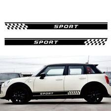 Universal 2x Car Side Body Decal Sticker Sport Logo Skirt Long Stripe Decoration Fits Srt
