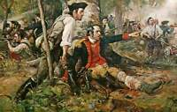 """oil painting handpainted on canvas """"  Herkimer at the Battle of Oriskany"""""""