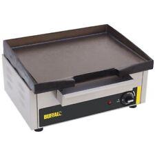 Buffalo Countertop Electric Griddle 385 x 280mm Silver Colour