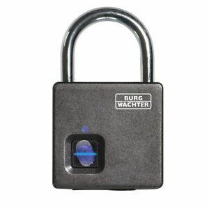 Burg Wächter Vorhangschloss mit Fingerscanner Scan + Lock 610 53 SB -Wetterfest-