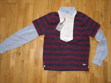 Gant MB Michael Bastian 2in1 Heavy Rugger Long Sleeve Shirt Cotton M New BNWT