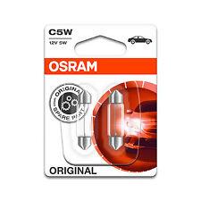 2x FIAT 500c ORIGINALE OSRAM lampada targa originale Lampadine