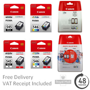 Original Canon PG545 / PG545XL & CL546 / CL546XL Ink Cartridges - PIXMA Printers