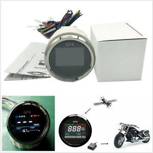 "1X 52mm/2"" Round Motorcycle ATV LCD GPS Digital Speedometer 0~999 MPH Km/h Knots"