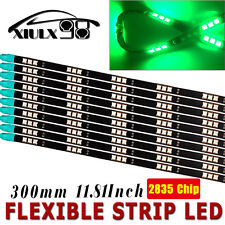 "10x Green 12"" 30CM Car Motor 5050 Flexible LED Light Strip Bar High Power 12V"