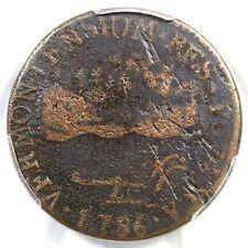 1786 RR-8 R-4 PCGS F Details VERMONTENSIUM Vermont Colonial Copper Coin