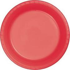 """Coral 10"""" Plastic Dinner Plates 20 Per Pack Party Decorations & Supplies"""