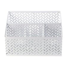 Staples Metal Desk Organizer White Zigzag (26850) 1116754