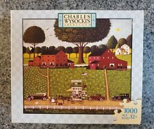 "Charles Wysocki  1000 piece puzzle ""Tinkle Toms"", traveling housewares saleman"