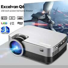 Multimedia LED Projector Mini Portable 1080P Home Cinema Theater HDMI AV USB TF