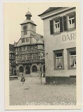 Heppenheim Rathaus Frisör Friseur Mode der 1950er Fachwerkhaus - altes Foto 1954