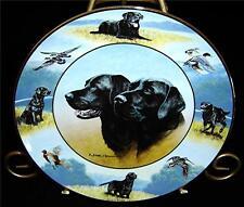 The Sporting Life Nigel Hemming Black Labrador Retriever Dog Puppy Plate