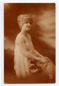 c 1920 Glamour Lady HIGH HAIRED HONEY Tall Hairdoo photo  postcard