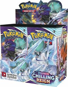 Pokemon TCG CHILLING REIGN Booster Box FACTORY SEALED 36 Packs WAVE 2 RELEASE
