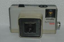 Vintage Minolta Autopak 500 Camera 126 Film Rokkor 2.8 F 38mm Untested