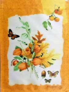 "Fall Floral Garden Flag by Toland #1230 11"" x 14.5"""