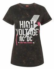 AC/DC Comics High Voltage Acid Wash Women's T-Shirt