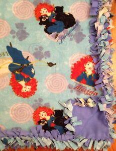 Handmade DISNEY Princesses Merida BRAVE Fleece Tie-Blanket Girl 58X72 - 2 layer