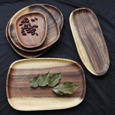 Large Natural Wood Plate Wooden Irregular Dish Serving Food Dessert Kitchen  AU