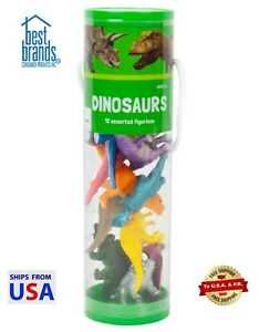 Dinosaurs 12 Assorted Figurines Collector Set in Tube - Best Brands