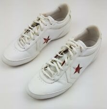 CONVERSE One Star White Leather Sneaker Red Star XO US Men's 6 Women's 8