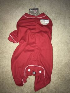 """NEW Red """"Thermal Underwear"""" Dog Pajamas Sleepwear Clothes Extra Large XL"""