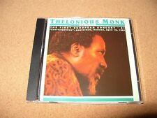 THELONIOUS MONK QUARTET The First European Concert 61 9 TRACK CD Ex/Nr Mint