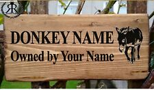 Personalised Stable Door Sign Donkey / Horse/Pony Name, Horse Name Plate Plaque