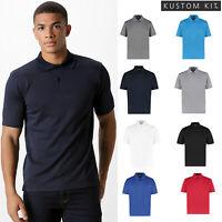 Mens slim fit black red contrast polo shirt KK603 Kustom Kit S L XL XXL NEW