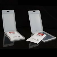 Waterproof Lot DURABLE Clear Plastic Vertical ID Card Badge Holder Pocket Pouch