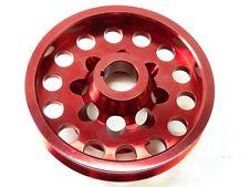 OBX Aluminum Crank Pulley Fits 01 02 03 04 Civic DX EX LX 1.7L D17A Red