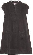 robe manches courtes velours marron foncé okaïdi taille 10/12 ans